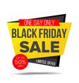black friday sale banner shopping vector image
