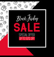 black friday sale template promotional banner vector image
