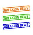 breaking news rubber stamp set vector image