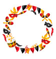 carnival party frame with celebration icons vector image vector image