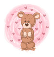 cartoon teddy bear - funny characters vector image