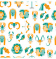 cartoon zodiac symbol background pattern on a vector image