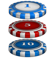 Casino poker chips vector image vector image