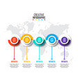 circles infographic with world map vector image vector image