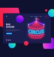 circus neon horizontal web banner vector image vector image
