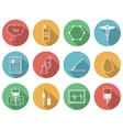 Colored icons for anesthesiology vector image vector image