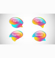 colorful bubble set vector image vector image