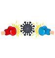coronavirus vs boxing gloves vector image vector image