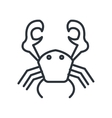crab isolated icon design vector image