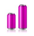 drink foods cola beer aluminum vector image