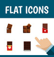 flat icon sweet set of chocolate bar wrapper vector image vector image