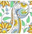Floral ornamental doodle pattern vector image vector image