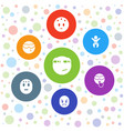 funny icons vector image vector image