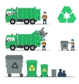 Garbage recycling set vector image vector image