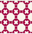 geometric red and white seamless pattern vector image