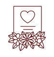 gift list with flowers isolated icon vector image vector image