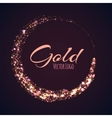 Gold rounded banner with glow effect on dark vector image vector image