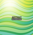 green wave abstract vector image vector image
