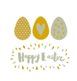 Greeting card Easter eggs and lettering vector image vector image