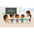 group of african american kids learn coding one vector image
