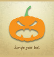 halloween card with evil pumpkin vector image vector image