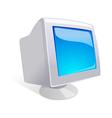 icon computer monitor vector image vector image