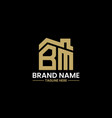 initial letter b and m with roreal estate vector image vector image