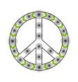 isolated floral peace symbol vector image