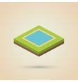 Isometric design Nature icon eco concept vector image