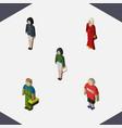 isometric human set of girl plumber female and vector image vector image