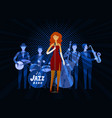 jazz band blues music musical festival concept vector image vector image