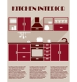 Kitchen interior infographic template vector image vector image