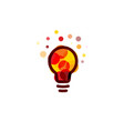 lightbulb icon creative idea logo design concept vector image vector image