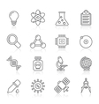 Line Education and Science icons vector image