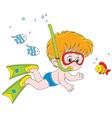 Little diver vector image vector image