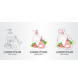 logo liquid soap and deodorant contour logo vector image