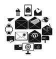 mail icons set simple style vector image vector image
