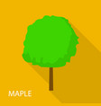 maple tree icon flat style vector image vector image