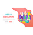 merry christmas 2021 banner concept vector image