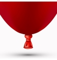 modern red balloon on white vector image vector image