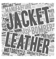 Motorbike Leather Jackets and Bomber Leather vector image vector image