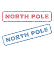 north pole textile stamps vector image vector image