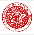 oklahoma seal rubber stamp vector image vector image