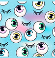 pattern with eyeballs on a holographic vector image vector image