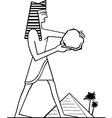 Pharaoh vector image vector image