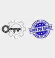 pixel key options gear icon and distress vector image vector image