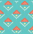 pretty geometric diamond pattern seamless vector image vector image