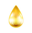 realistic drop of oil isolated on white background vector image