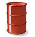 Red steel barrel vector image vector image