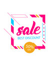 sale best discount 50 off square frame background vector image